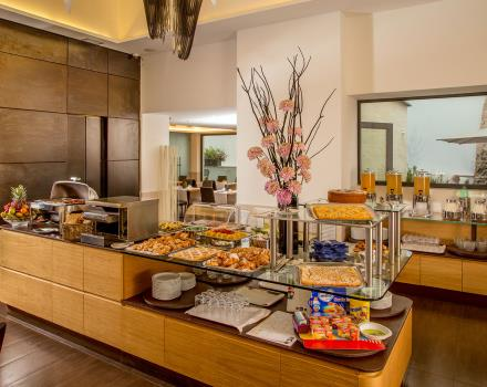 Breakfast buffet every morning at the Best Western Plus Hotel Spring House in the center of Rome