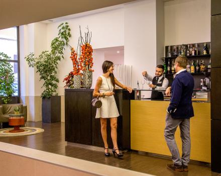 Hospitality and courtesy in the bar at the Best Western Plus Hotel Spring House in central Rome