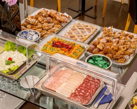 Rich breakfast buffet at Best Western Plus Hotel Spring House in the center of Rome