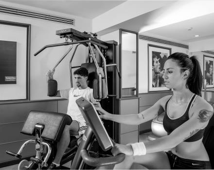 Stay fit during your stay in Rome thanks to the fitness area at the Best western Plus Hotel Spring House