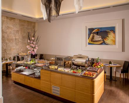 Breakfast buffet each morning at the Best Western Plus Hotel Spring House in central Rome