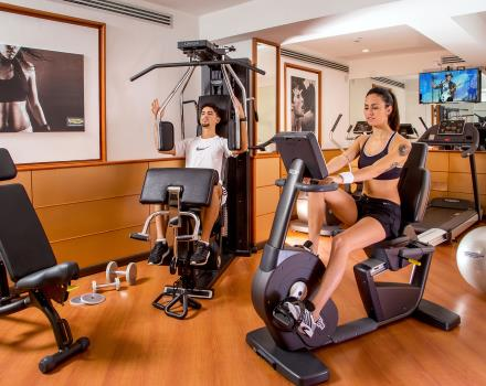 Stay fit during your stay in Rome thanks to the fitness area at the Best Western §Plus Hotel Spring House